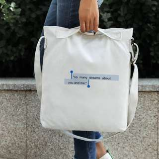 [po] ulzzang aesthetic tote bag with zipper (PM FOR MORE DESIGNS)
