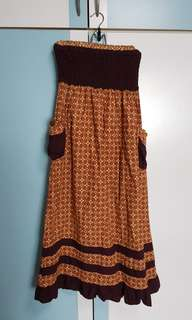 Strapless Batik Dress