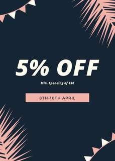 5% Discount!!