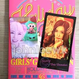[INSTOCKS] SNSD Girls Generation Holiday Night Taiwan Ver Photocard / Sticker