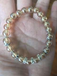 Champagne Citrine Crystal Bracelet 香槟黄水晶设计款手串
