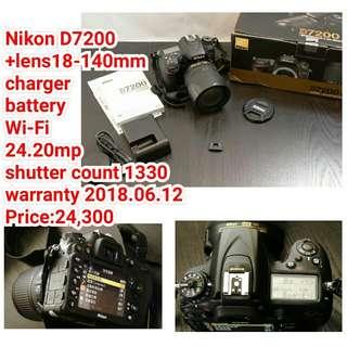 Nikon D7200 +lens18-140mm