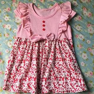 🚚 二手女童💟粉紅小洋裝2-3歲