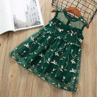 embroidery vest dress