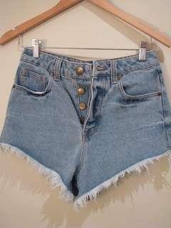 Glassons high waisted denim shorts