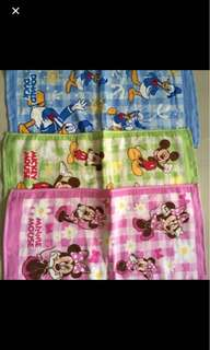 New mickey,minnie,Donald duck face towels