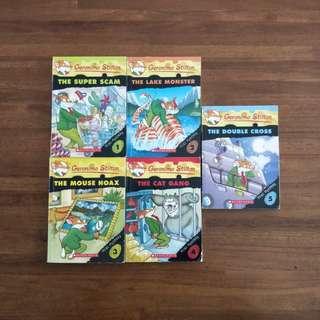 Geronimo Stilton Mini Mystery Books 1 - 5 ( total of 5 books for $16)