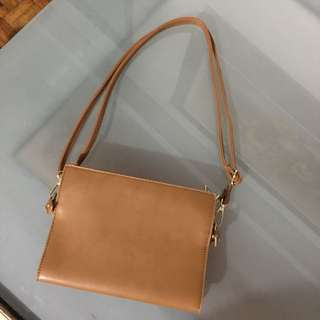 NEW Brown Faux Leather Handbag