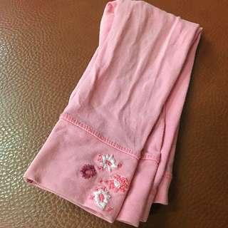 🚚 二手next💟女童粉色繡花棉質長褲1.5y-2y