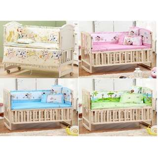 5-In-1 Newborn Baby Bed Bumper Set (100cm x 60cm)