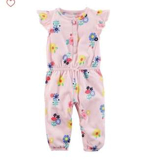BN Carters Baby Girl One Piece Floral Jumpsuit 12mths & 24mths!