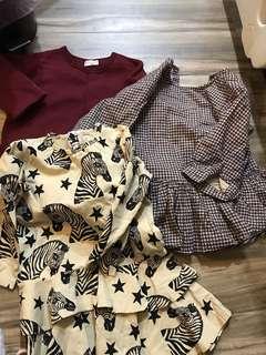 2~4yrs one piece dress 3 pieces