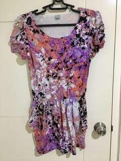 Printed Short Dress / Long Blouse