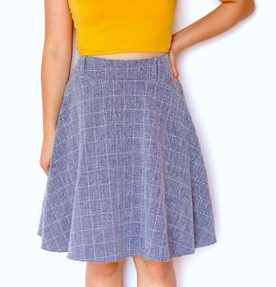 Grid Midi Skirt