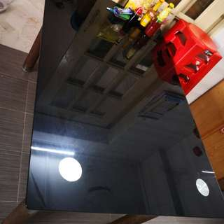 Dining table only. Black tempered glass.
