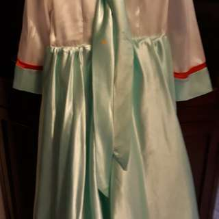 Korean Costume in Satin Mint green color