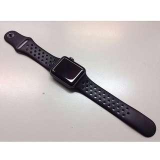 [SALE] Apple Watch Nike+ (Series 2) 太空灰鋁金屬錶殼配上煤黑色配黑色 Nike 運動錶帶 (Space Gray Aluminum Case with Anthracite/Black Nike Sport Band) 38mm