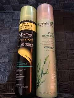 Aveeno and tresemme dry shampoo