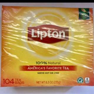 Lipton 100% natural americas favorite tea 104 teabags