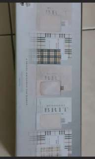 Burberry miniature perfume box