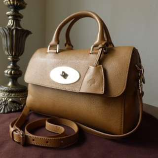 "mulberry ""del rey"" (small) deer brown grainy leather"