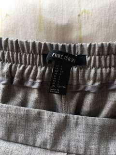 🚚 Foverever 21 灰色寬版褲