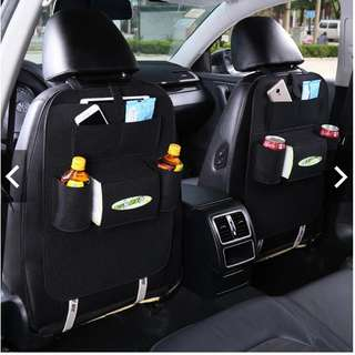 Car backrest storage bag 7 pockets car back bags