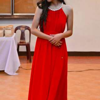 Long dress / Long gown (Red)