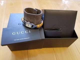 Gucci bamboo ladies watch