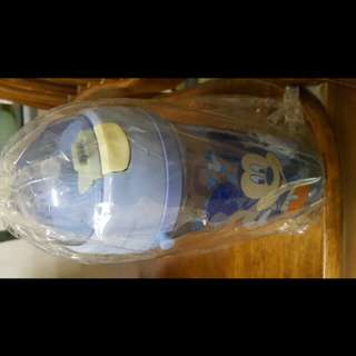 (New) Mickey Mouse Water Bottle 500ml with Straw