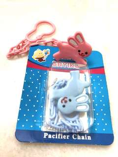 Baby pacifier chain clips