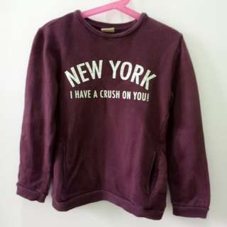 Zara girls purple sweater