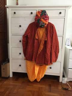 Indian costume (made of cotton L-XL)