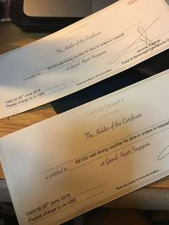 Mezza9 $200 Grand Hyatt Dining voucher