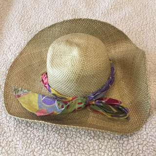 Native summer hat with Ribbon Accent