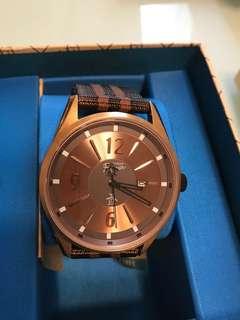 Original penguin brown watch stainless steel