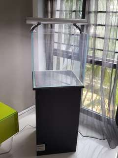 50x50x50cm thick glass aquarim with stand