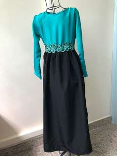 Princess Dress in Emerald Green