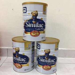 [Bundle of 3] Similac Gain Plus 3, 1.8kg x 3, free delivery to west