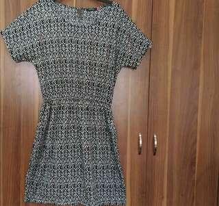 SM Woman Plus Size 3xl XXXL Black Print Garter Dress