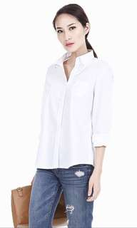 AWE Ava White Crisp Shirt