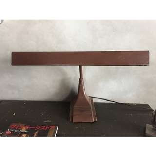 //ORI DECO工業風老件// 美國 老檯燈 桌燈 雙管1尺半燈管 好用好看
