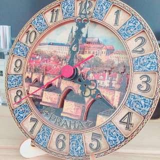 布拉格質感立體時鐘
