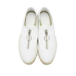"alexander wang ""devon"" double sole espadrilles in optic white"