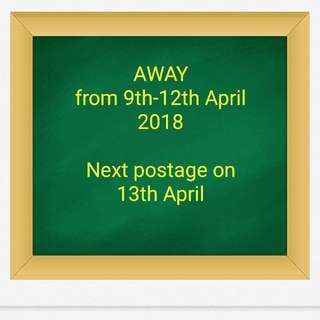 Notice : Away