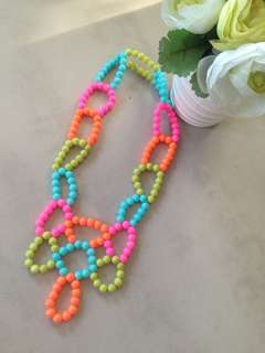 Pastel or Colorful Statement Necklace