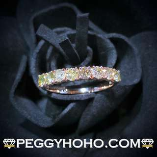 【Peggyhoho】全新18K玫瑰金81份超閃真鑽石戒指|經典系列|HK13.5