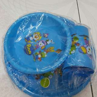 (New and Unopened) Pororo (BPA Free) Dining Set1 #20Under