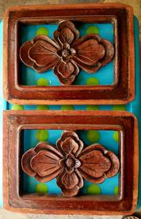 Vintage Peranakan wood carved