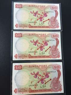 $10 orchid series (AU) A59 029715/7